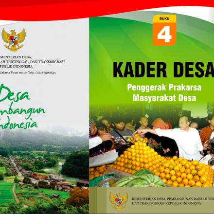 """Buku Saku """"KADER DESA: Penggerak Prakarsa Masyarakat Desa""""."""